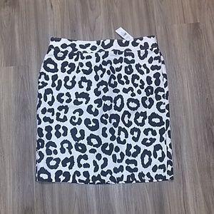 NWT ANN TAYLOR LOFT sz.12 Leopard Skirt